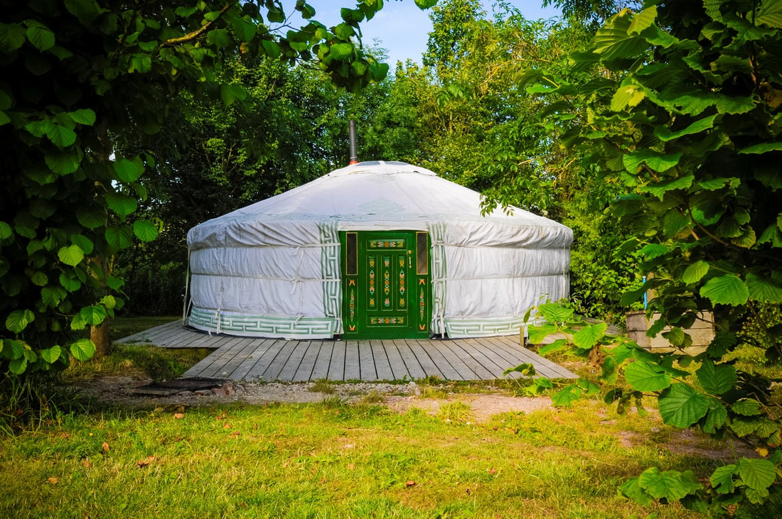 Outside a Yurt