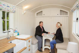 Inside Mayfly Shepherd's Hut