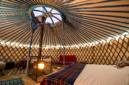 Inside a Meon Springs Yurt