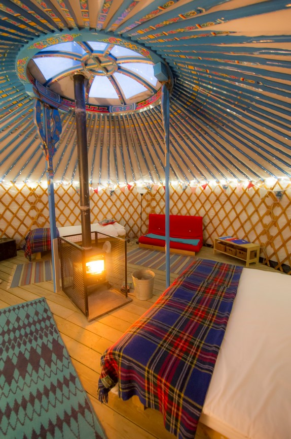 Yoga Space - Inside a Mongolian Yurt